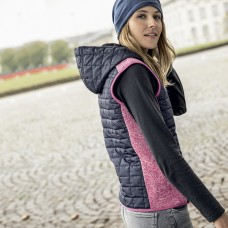 LADIES' KNITTED HYBRID VEST 10